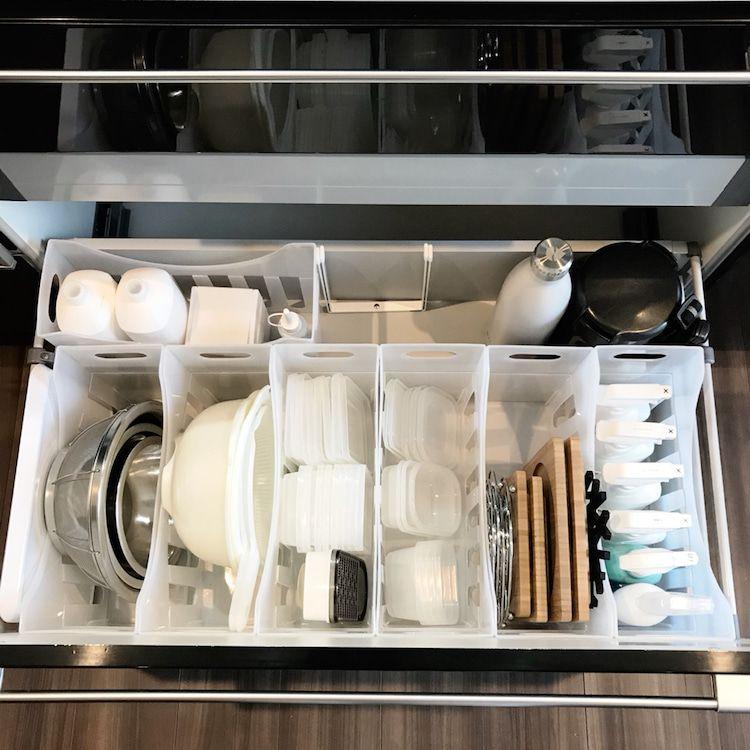 キッチン収納 100均アイテムでスッキリ収納 ボウル 収納 キッチン 収納 100均 100均 収納