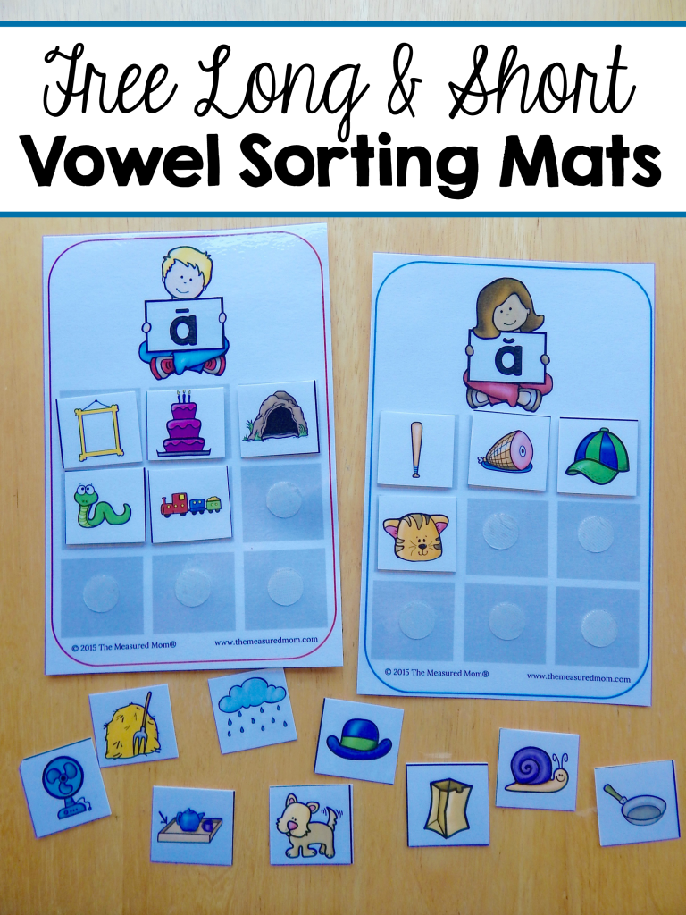 Free sorting mats for short and long vowels | Pinterest | Vowel ...