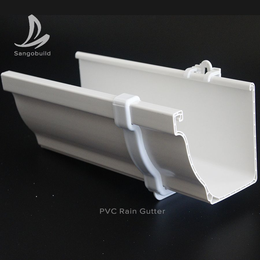 5 2inch 7inch K Style Pvc Rain Gutters Kenya Wholesaler Price Roof Gutters System Rain Collector Nigeria Gutters Rain Gutters Uv Resistant