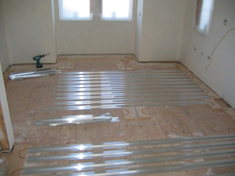 Thermofin U Installed With Pex Tubing For In Floor Radiant Heating