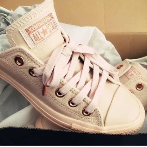 converse pastel rose tan rose gold