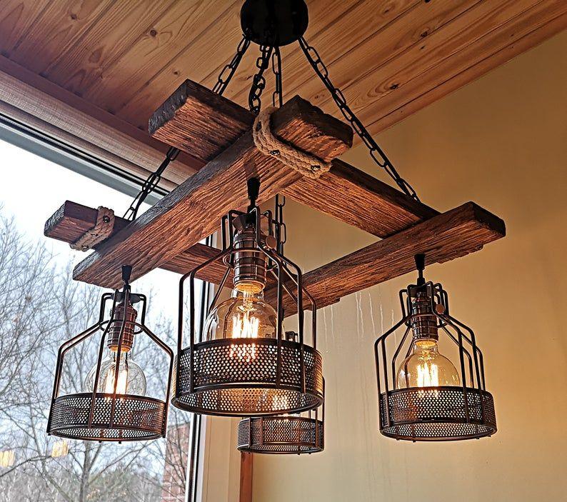 Rustic Light Fixture Hanging Light Rustic Lighting Etsy In 2020 Rustic Light Fixtures Rustic Lighting Rustic Chandelier