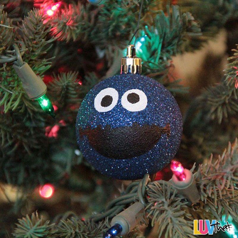 Cookie Monster Christmas Tree Diy Blur Sparkles Cookie