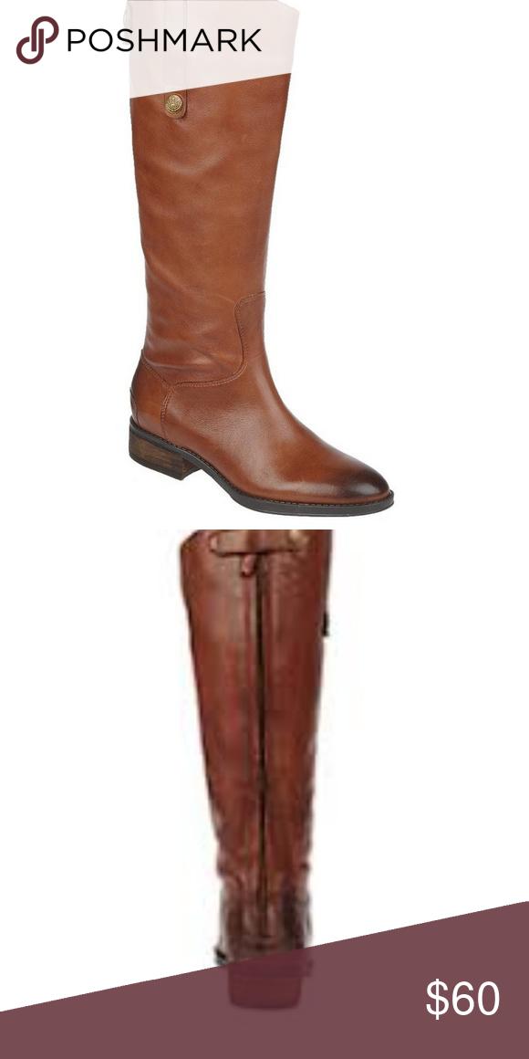 b9aa00d2d98033 Sam Edelman Penny Riding Boots Brown Leather 7 Sam Edelman Women s Brown  Leather Penny Riding Boots Size 7 Block heel Back zipper closure Sam  Edelman Shoes ...