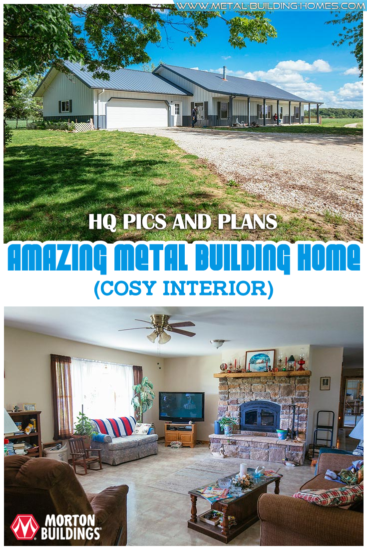 Amazing 36x64 Metal Building Home W Cosy Interior 9 Hq Pictures Metal Building Homes Metal Buildings Building A House