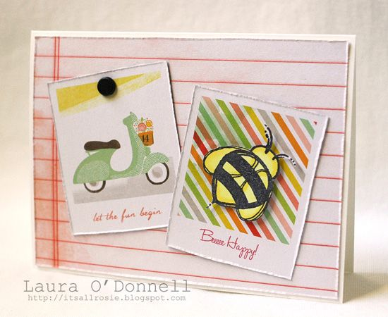 bee happy by Laura ODonnell - Cards and Paper Crafts at Splitcoaststampers