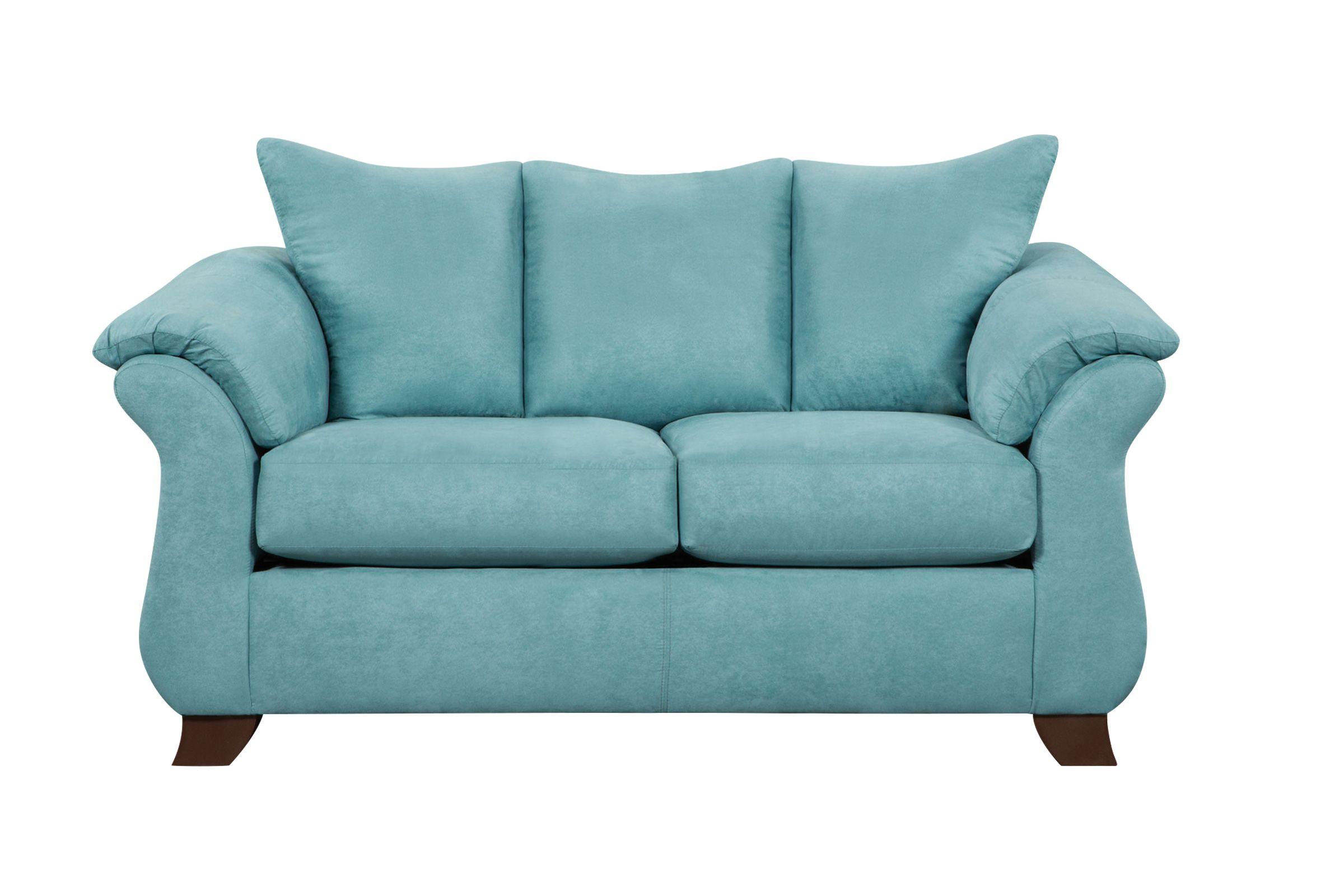 Taffy Microfiber Loveseat In 2020 Sleeper Sofa Microfiber Sofa
