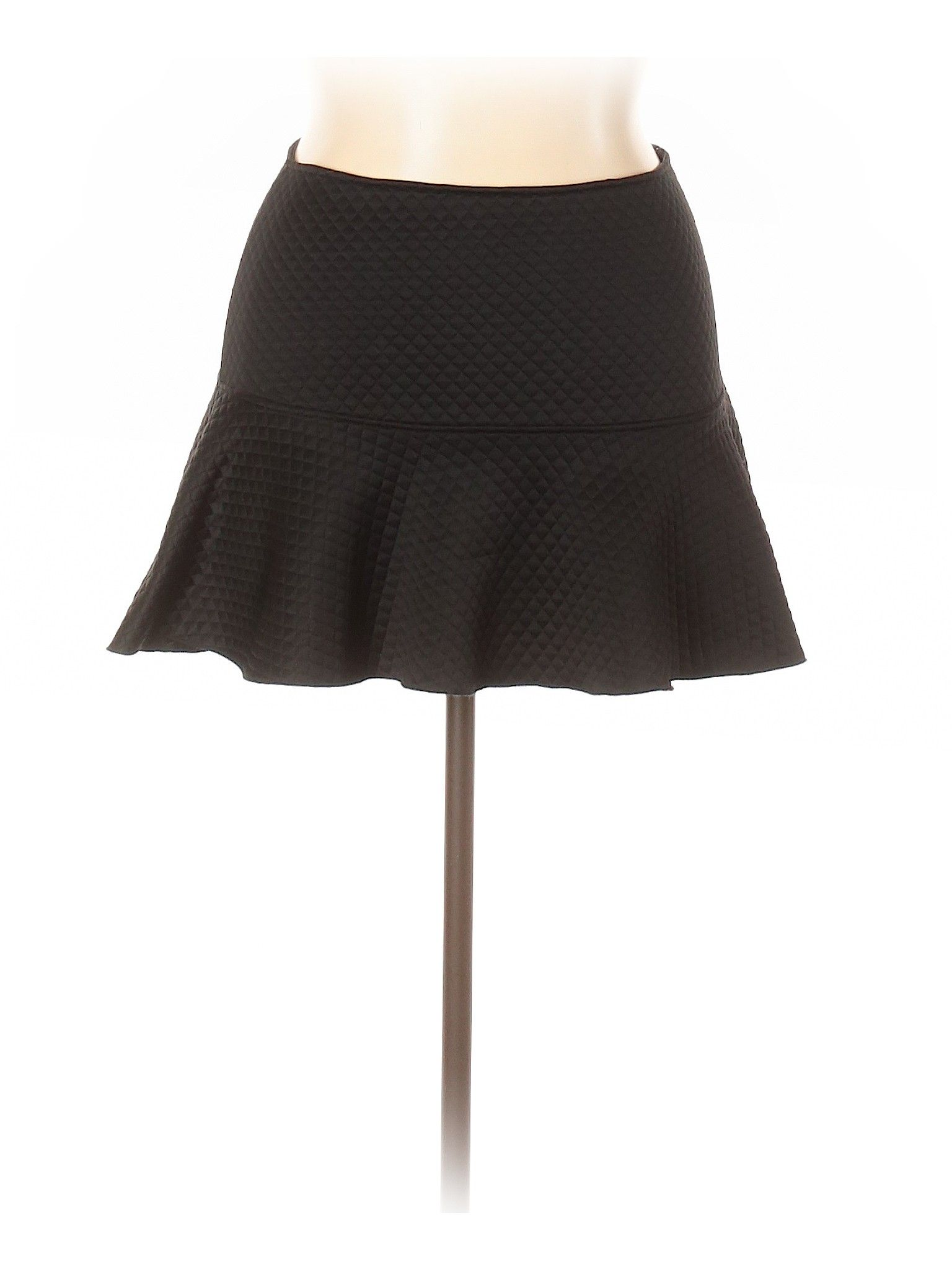 Zara W B Collection Casual Skirt Black Solid Women S Bottoms Size Large Fit And Flare Skirt Clothes Second Hand Clothes
