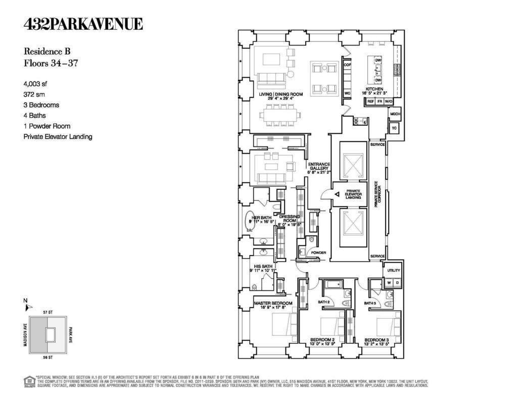 New York 432 Park Ave 426m 1396ft 85 Fl Com Page 874 432 Park Avenue Park Avenue Floor Plans