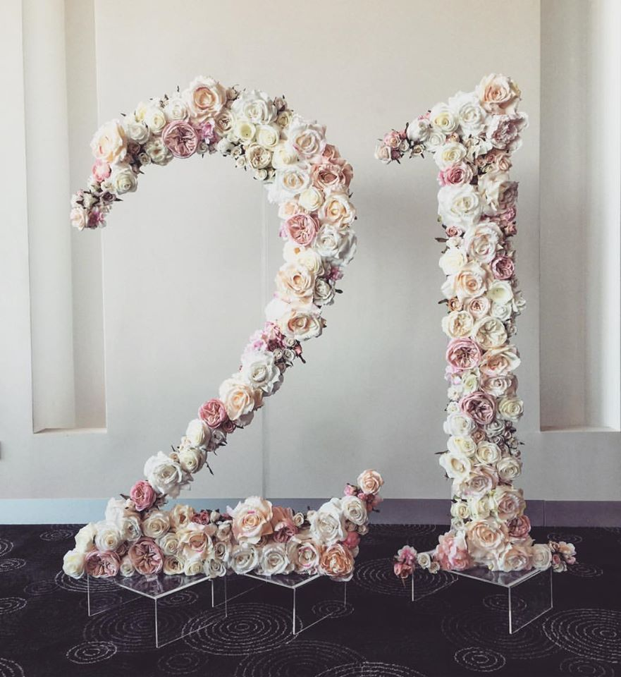 Floral Numbers | birthday | 21st Birthday, 21st bday ideas ...