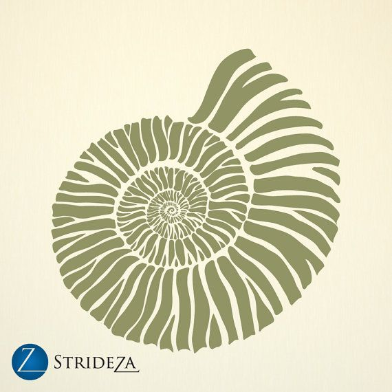 fossil decal decor D00028 Ammonite vinyl wall decal