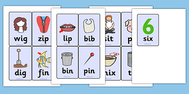 Cvc Word Cards I  Cvc Cvc Word Three Phoneme Words Three