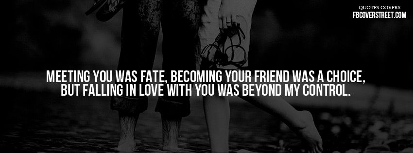 Meeting You Was Fate...