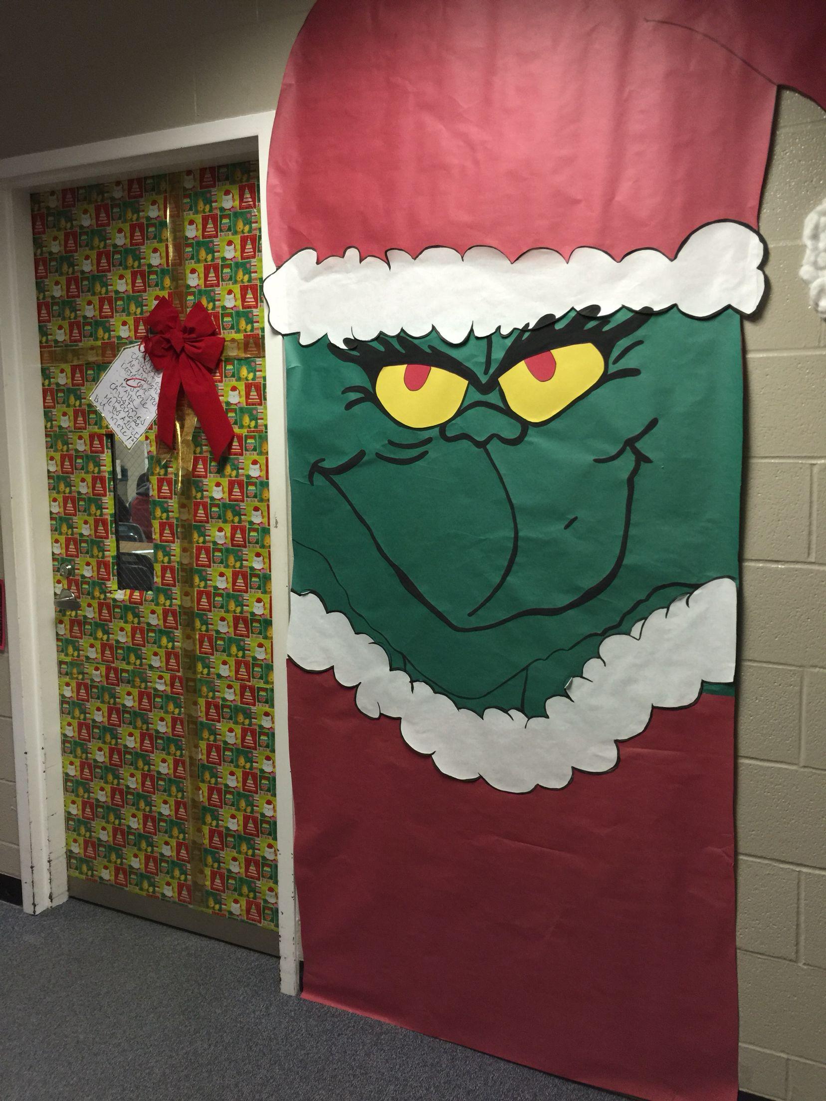 Christmas Door The Grinch