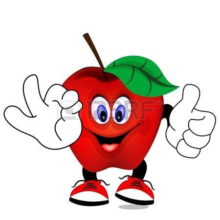 Manzana Roja Manzanas Dibujo Manzana Manzana Roja