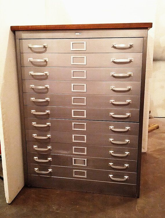 Flat File Cabinet 11 Drawers Artist Print File Metal Architect Cabinet Artwork Storage Crafters Supply Storage & Flat File Cabinet 11 Drawers Artist Print File Metal Architect ...