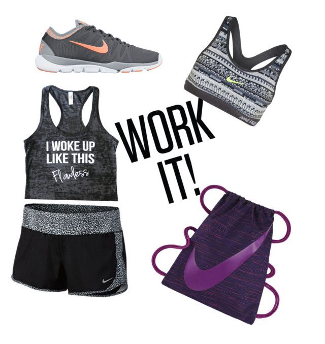 """""""Gym outfit"""" by dudalauria ❤ liked on Polyvore featuring NIKE"""