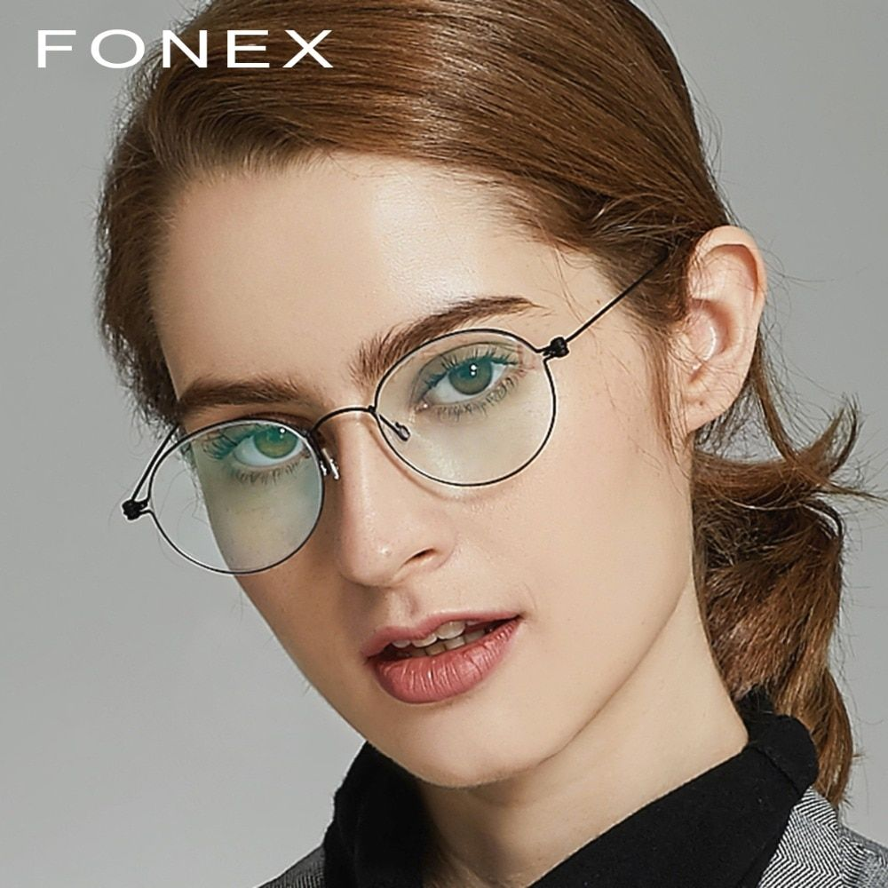 3b55764b2ac B Pure Titanium Glasses Frame Women Ultralight Prescription Eye Eyeglasses  Men New Korean Myopia Optical Frame Screwless Eyewear Review