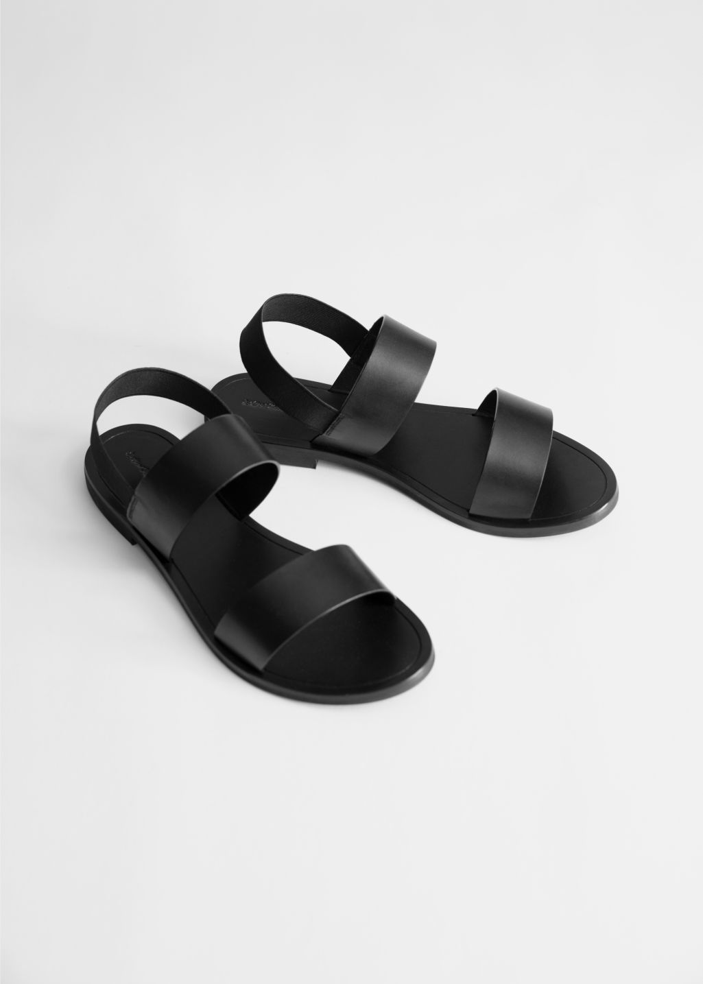 Slingback Strappy Leather Sandals in