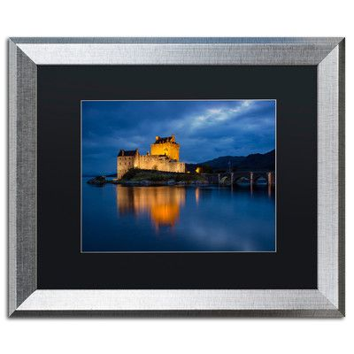 "Trademark Art 'Eilean Donan Castle' by Michael Blanchette Framed Photographic Print Matte Color: Black, Size: 16"" H x 20"" W x 0.5"" D"