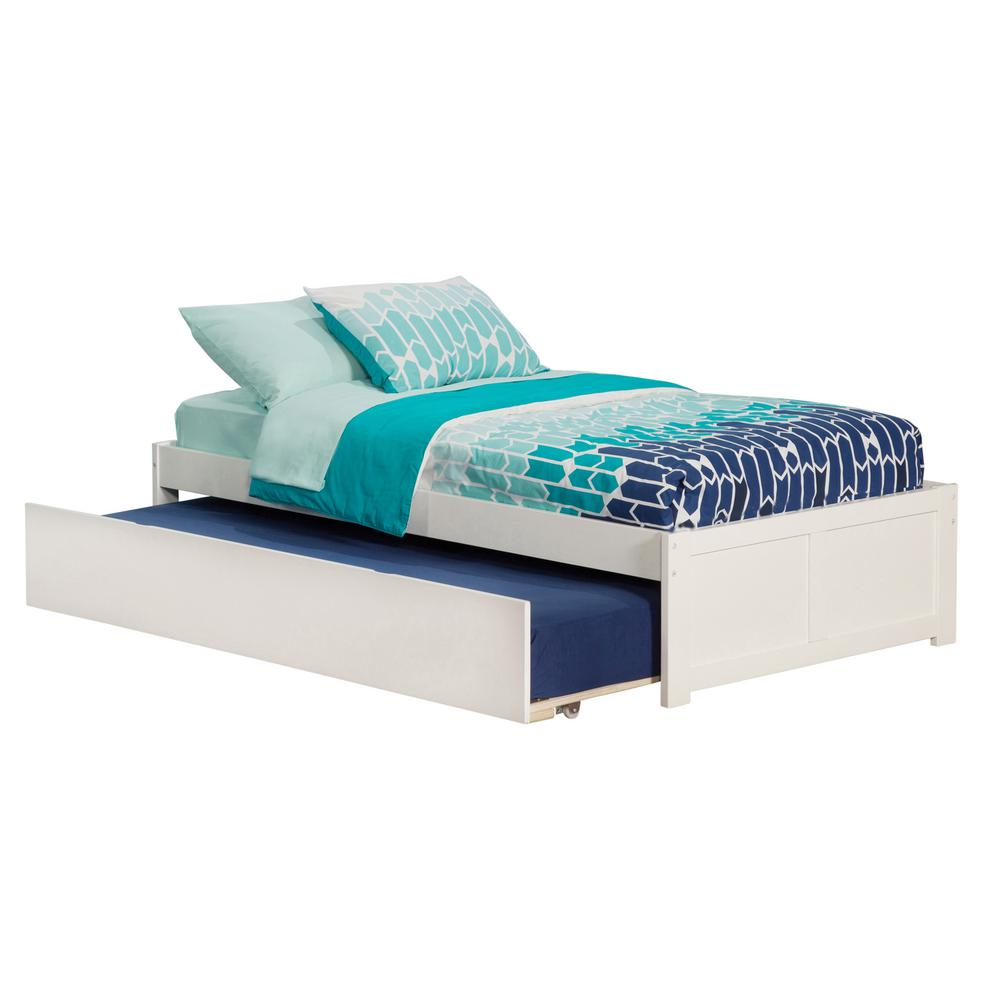 Atlantic Furniture Concord White Twin Platform Bed With Flat Panel