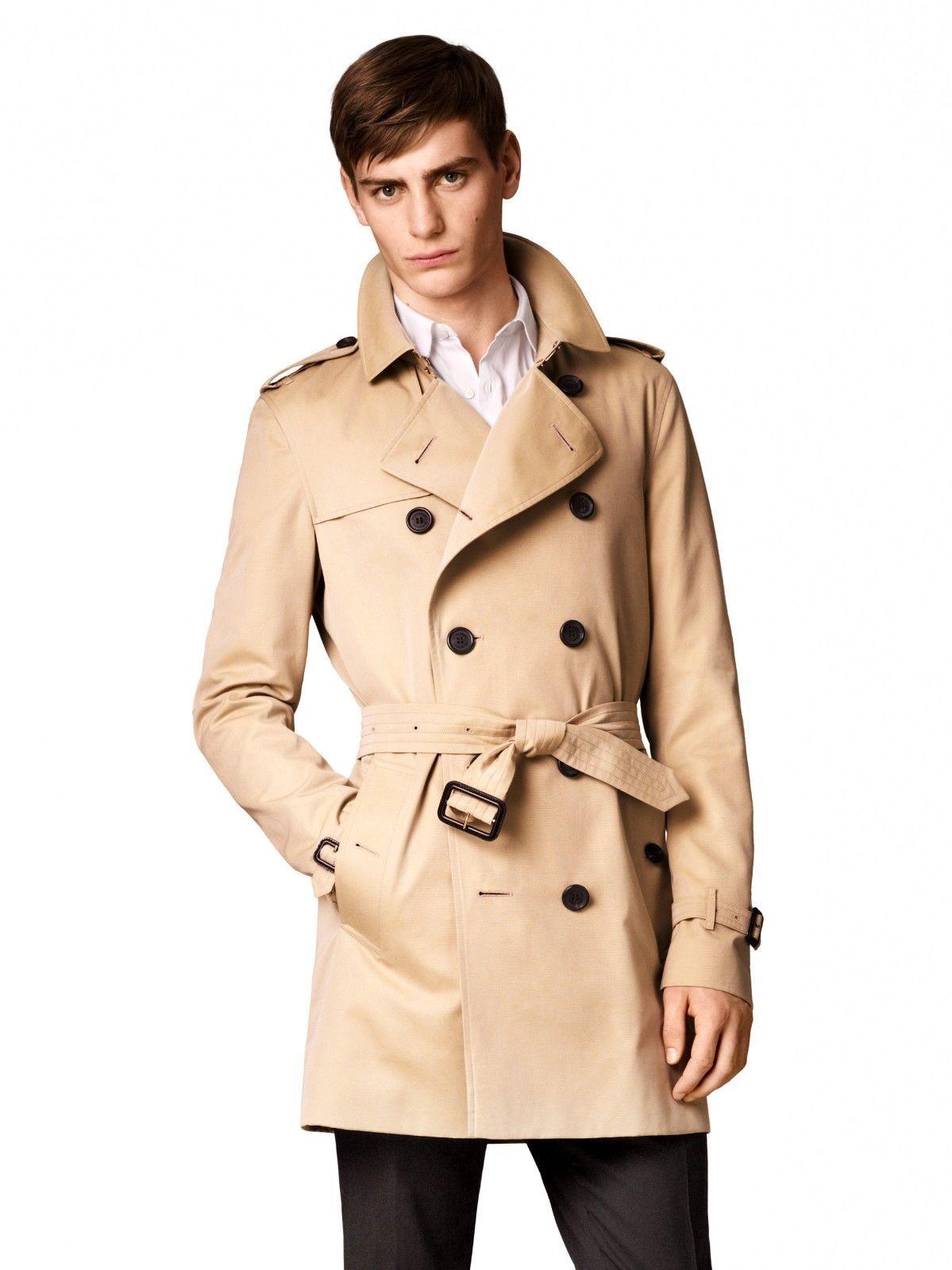 Vtg Mens Short Burberry Kensington Trench Coat Double Breasted Mac Jacket Med Ebay Trench Coat Coat Jackets