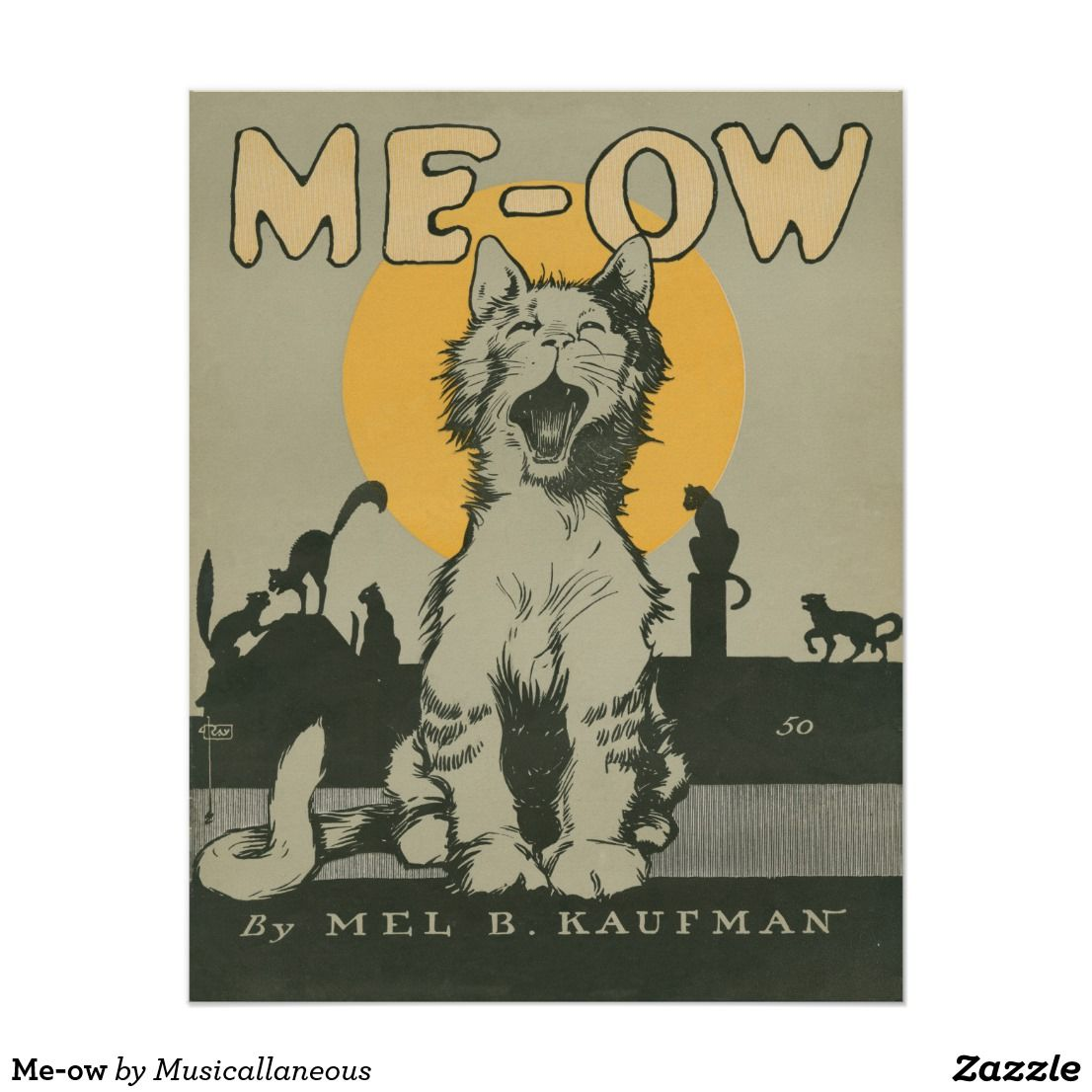 Meow Poster in 2020 (With images) Cat