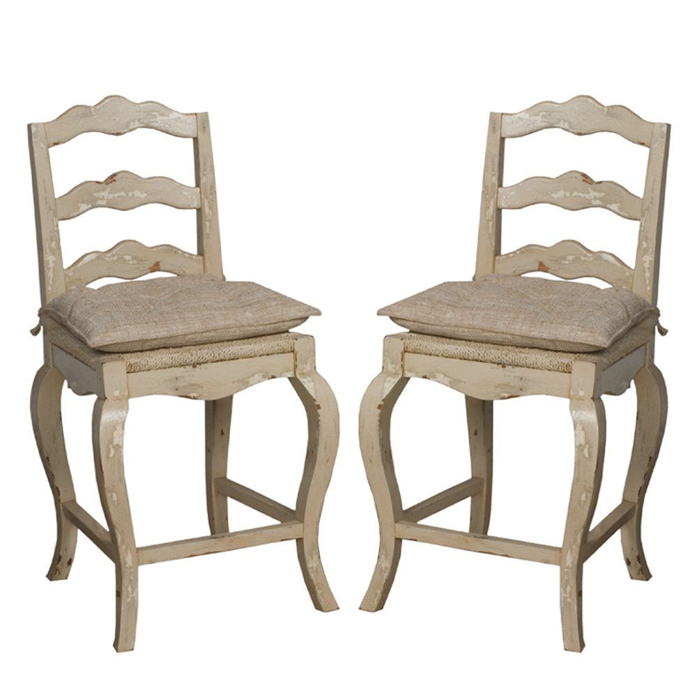 Provencal OffWhite Counter Stools Furniture, Counter