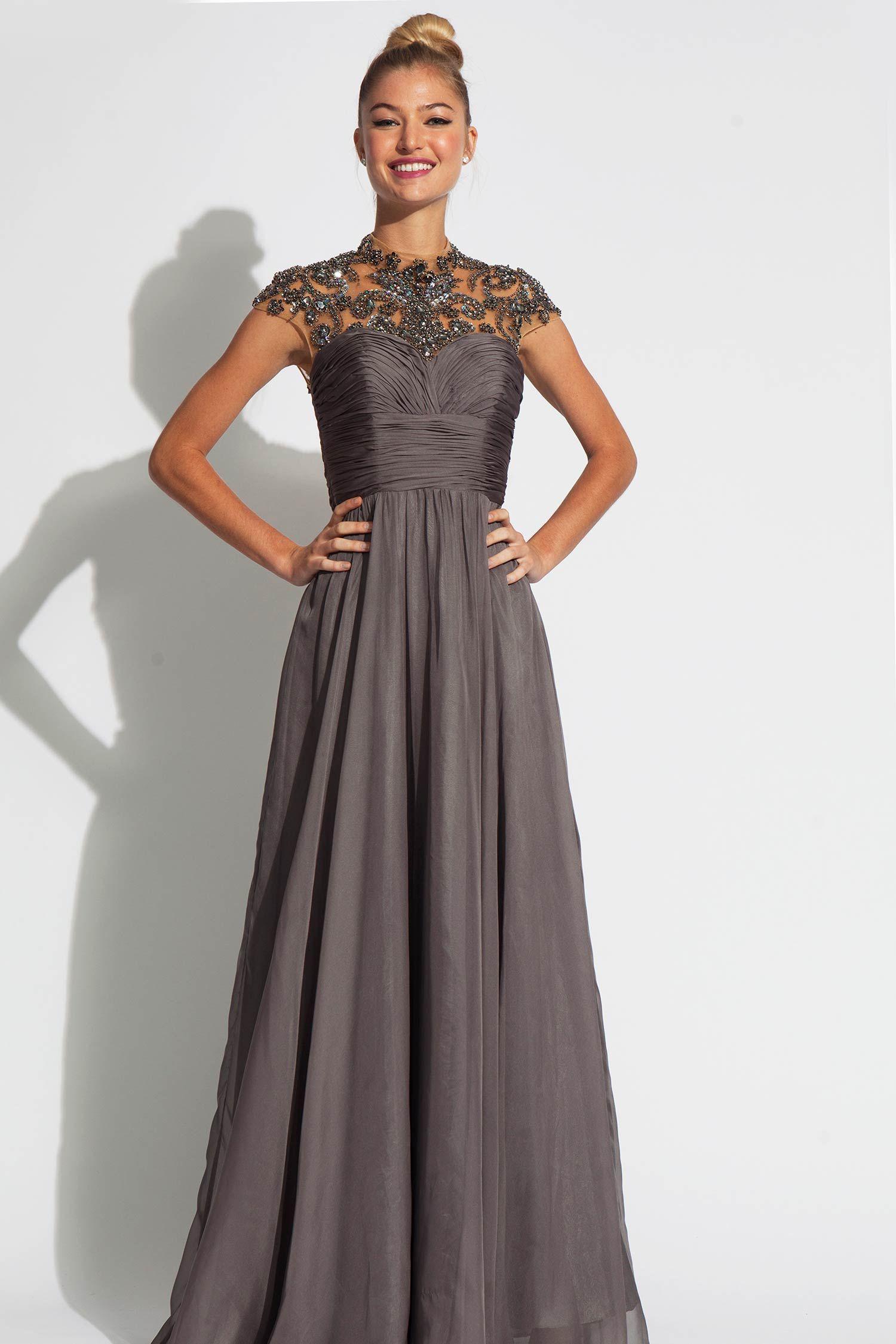 Sleeveless empire waist jovani chiffon dress stand out and be