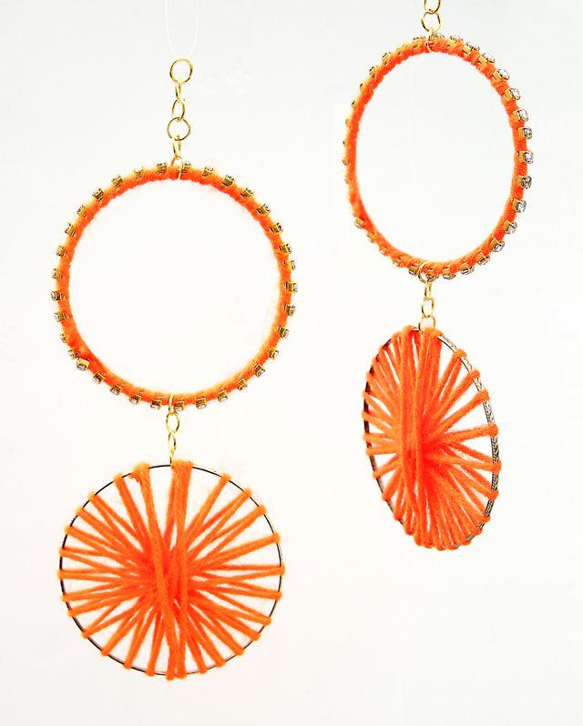 rhinestone yarn bracelet ornaments