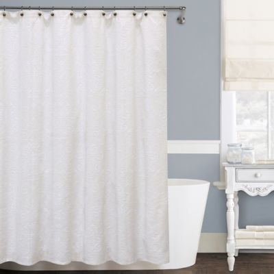 Lamont Home Isabella Matelassé 54-Inch x 78-Inch Stall Shower ...