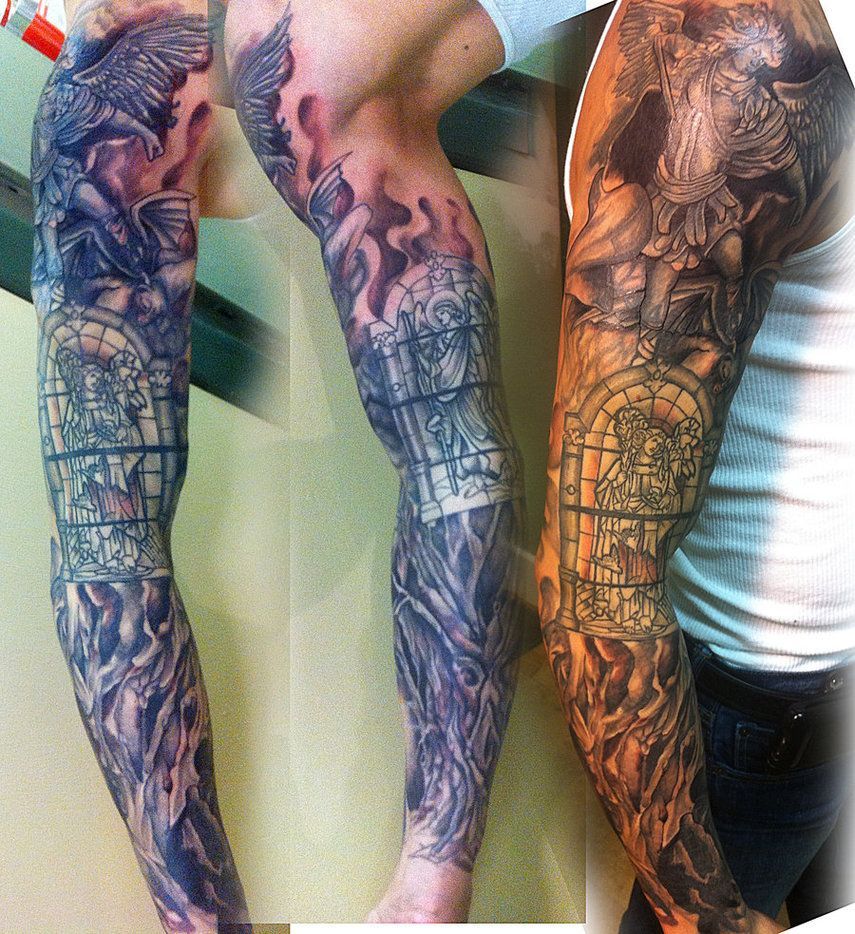Tattoo sleeve coverup by mikee h tattoo on deviantart for Tattoo cover sleeves