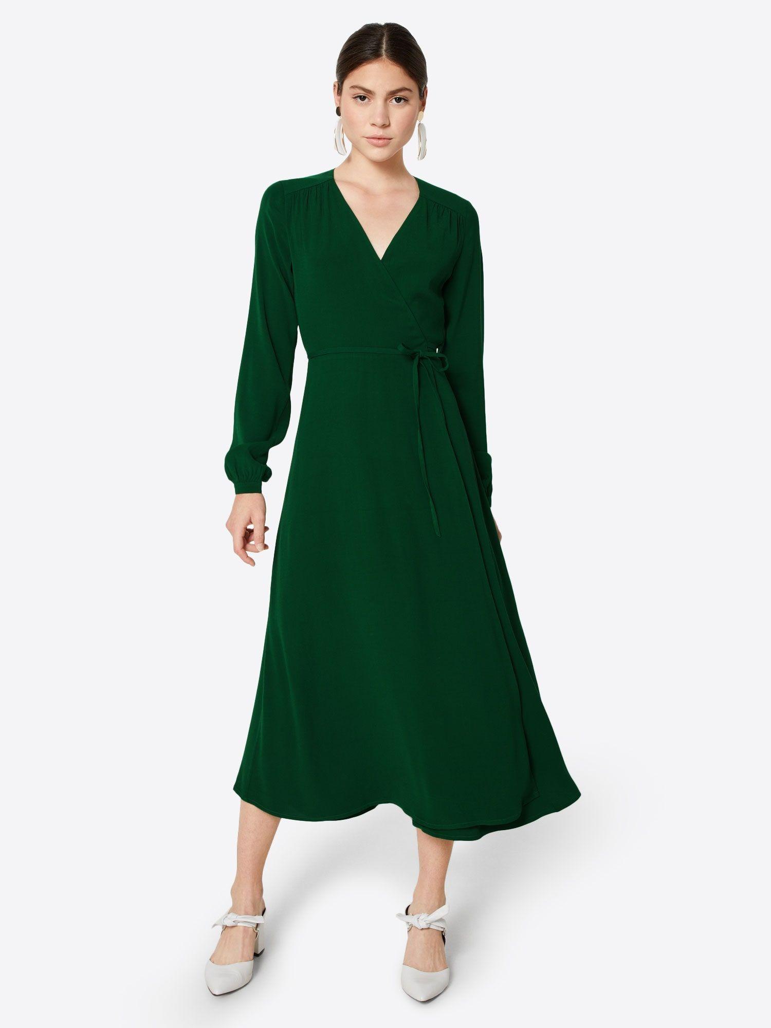 ivy & oak kleid 'long sleeve wrap dress midi' in tanne