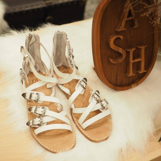 Ash Penelope Sandals White Leather Amp Silver Details Now