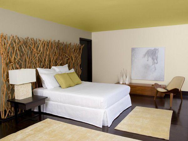 Wandgestaltung im Schlafzimmer - Kreative Wohnideen Schlafzimmer - schlafzimmer wohnidee