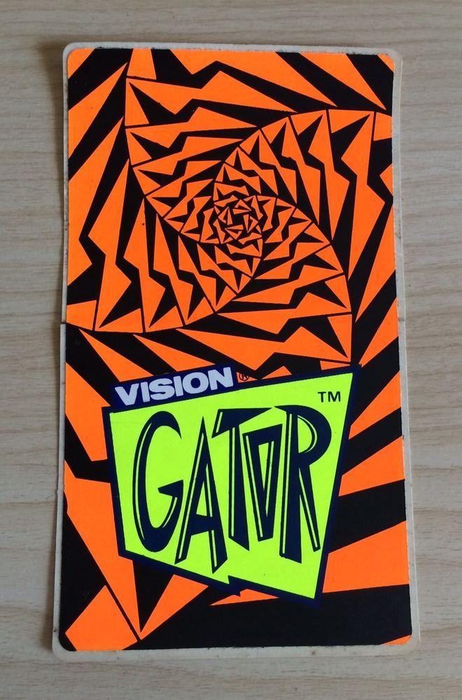 Vision Vtg 80s Mark Gator Rogowski Spiral Skateboard Sticker Skate Rare Nos Rad Ebay Skate Stickers Skateboard Logo Vintage Skateboards