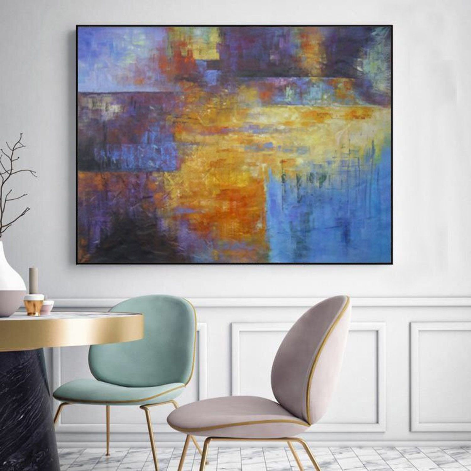 Abstract Painting Original Large Large Wall Art Canvas
