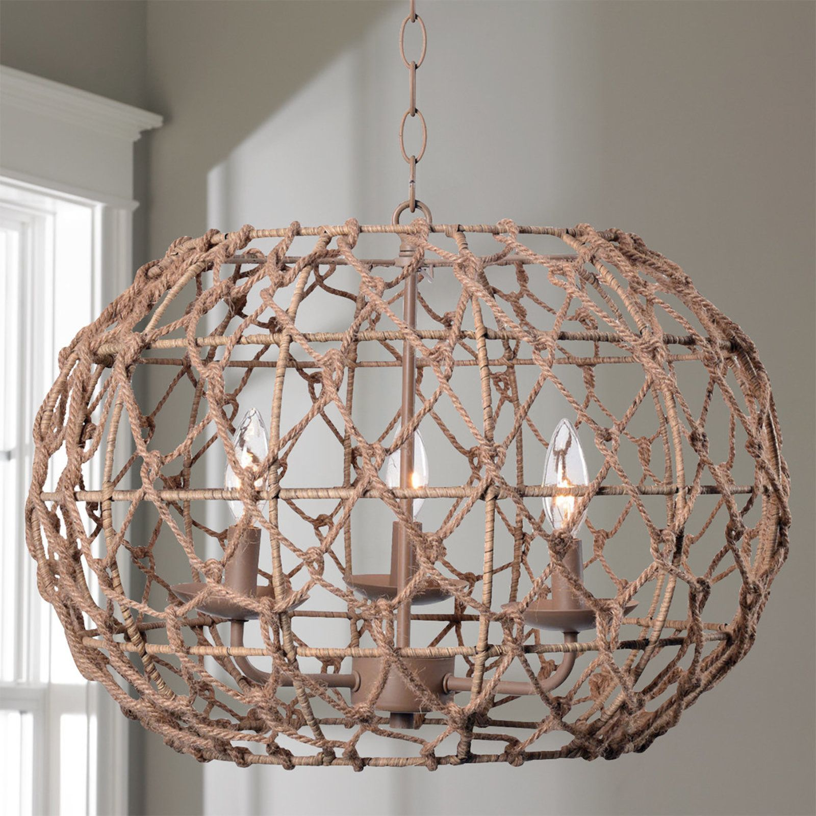 Rope frame mini chandelier rope frame mini chandelier and chandeliers