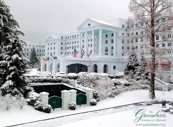 The Greenbrier Hotel West Virginia Luxury Resort Located Just Outside Town Of White