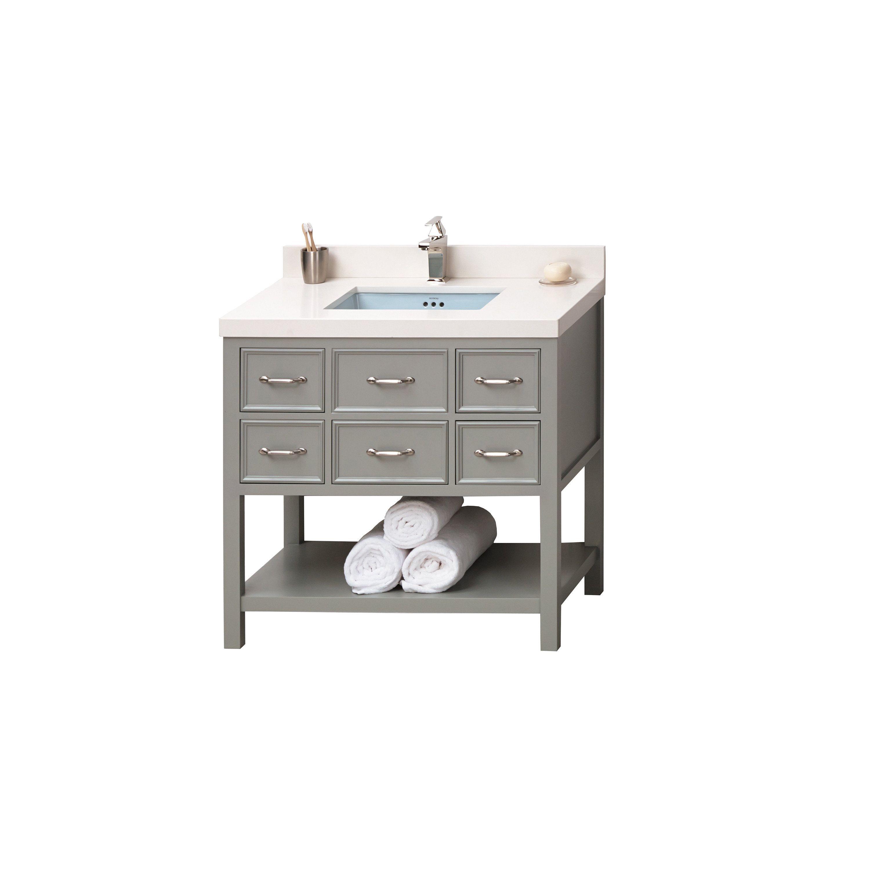 Bathroom Makeovers Newcastle ronbow newcastle 36-inch bathroom vanity set in ocean gray (36