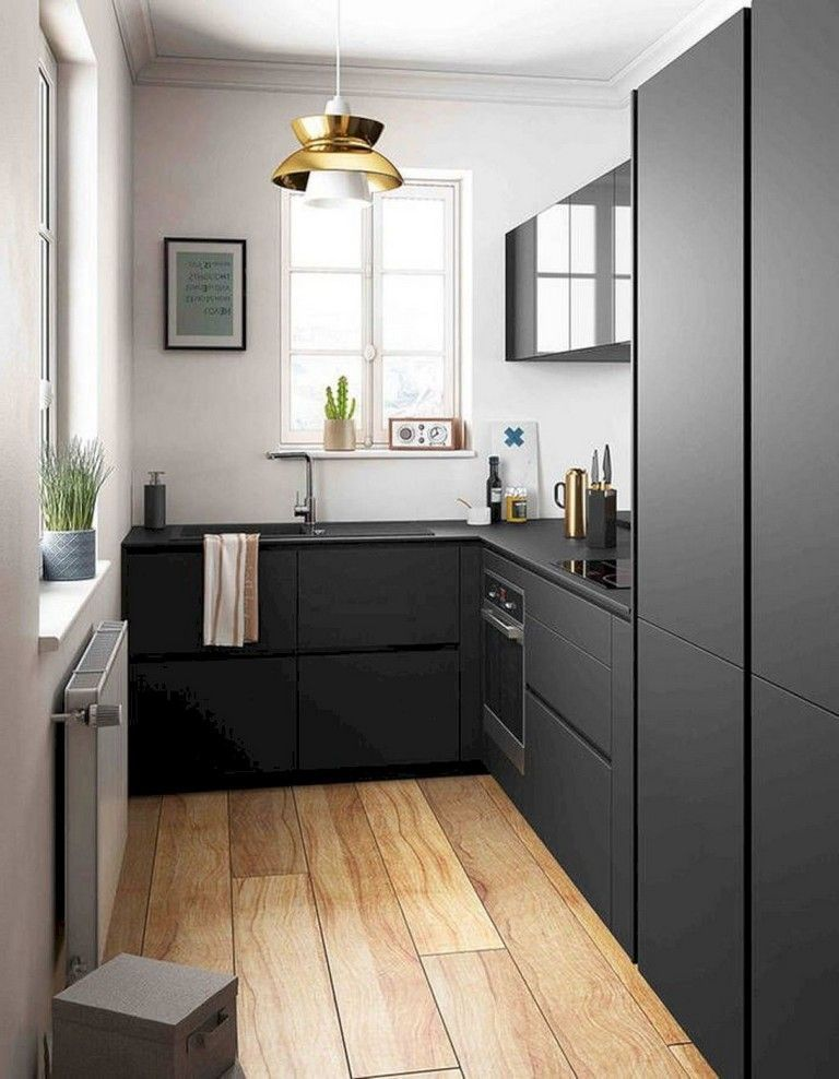 40 Marvelous Small Apartment Kitchen Remodel Ideas Kitchendesign Kitchenremodel Kitch Small Modern Kitchens Small Apartment Kitchen Interior Design Kitchen