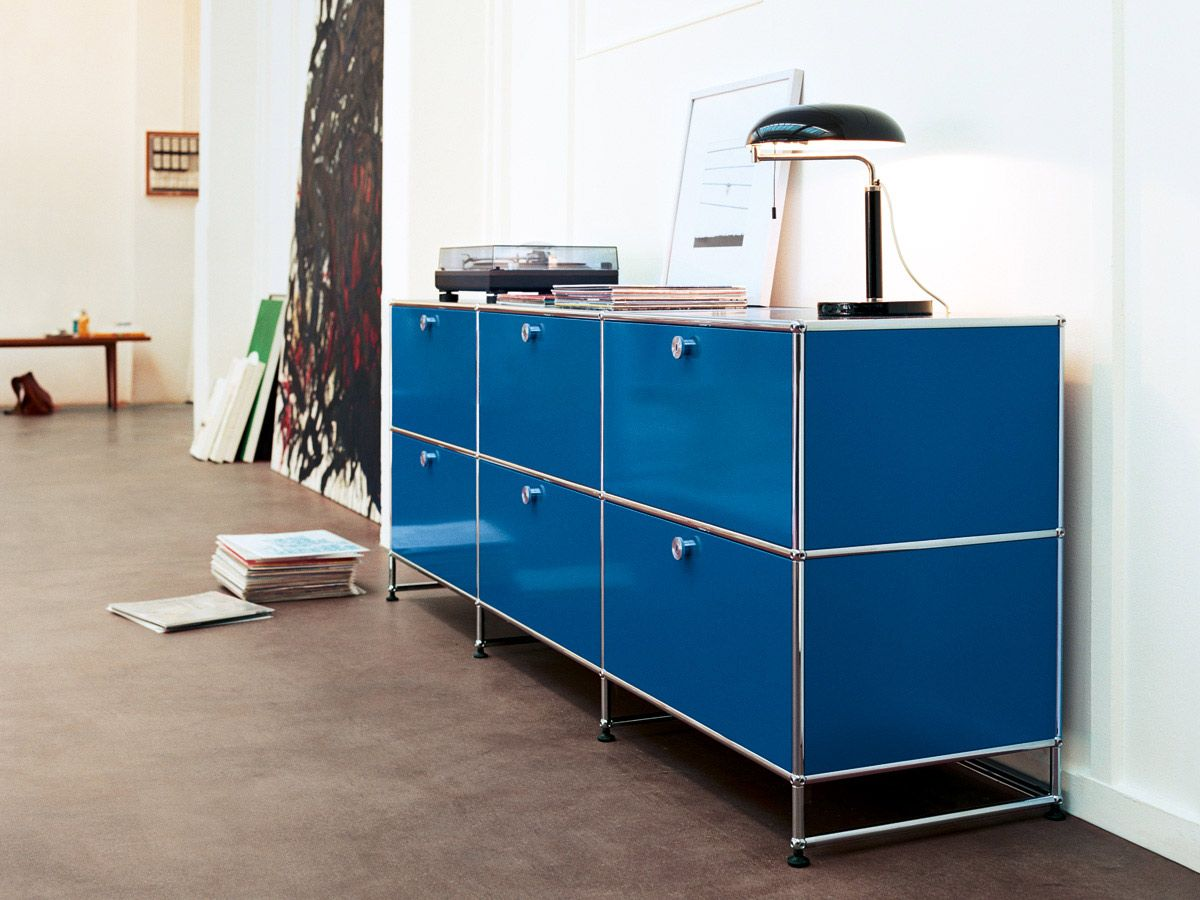 Usm haller credenza in gentian blue usm at for Sideboard usm