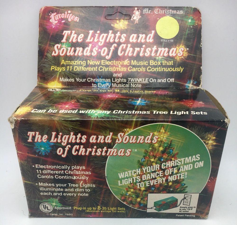Mr Christmas Carolites The Lights Sounds Of Christmas Music Box