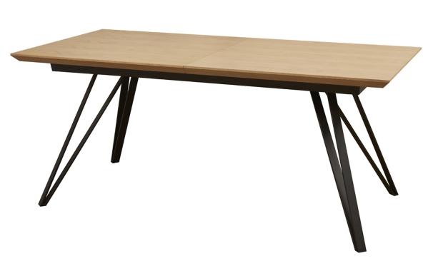 Table Avec Allonge St Moritz Naturel Noir Mobilier De Cuisine