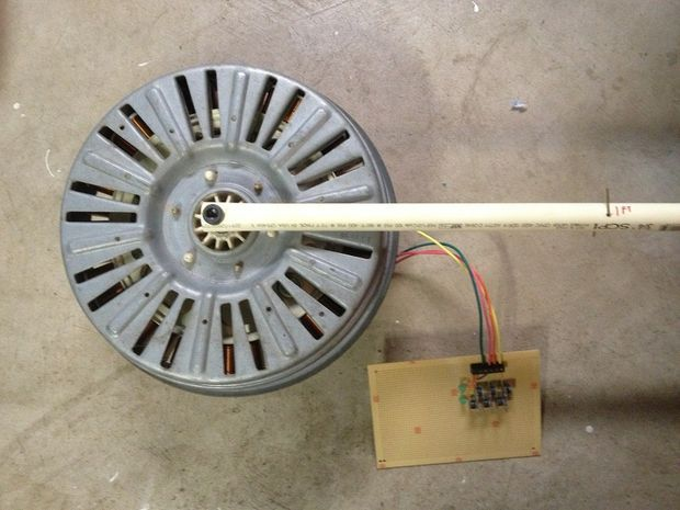A Vertical Wind Generator From Washing Machine Motor