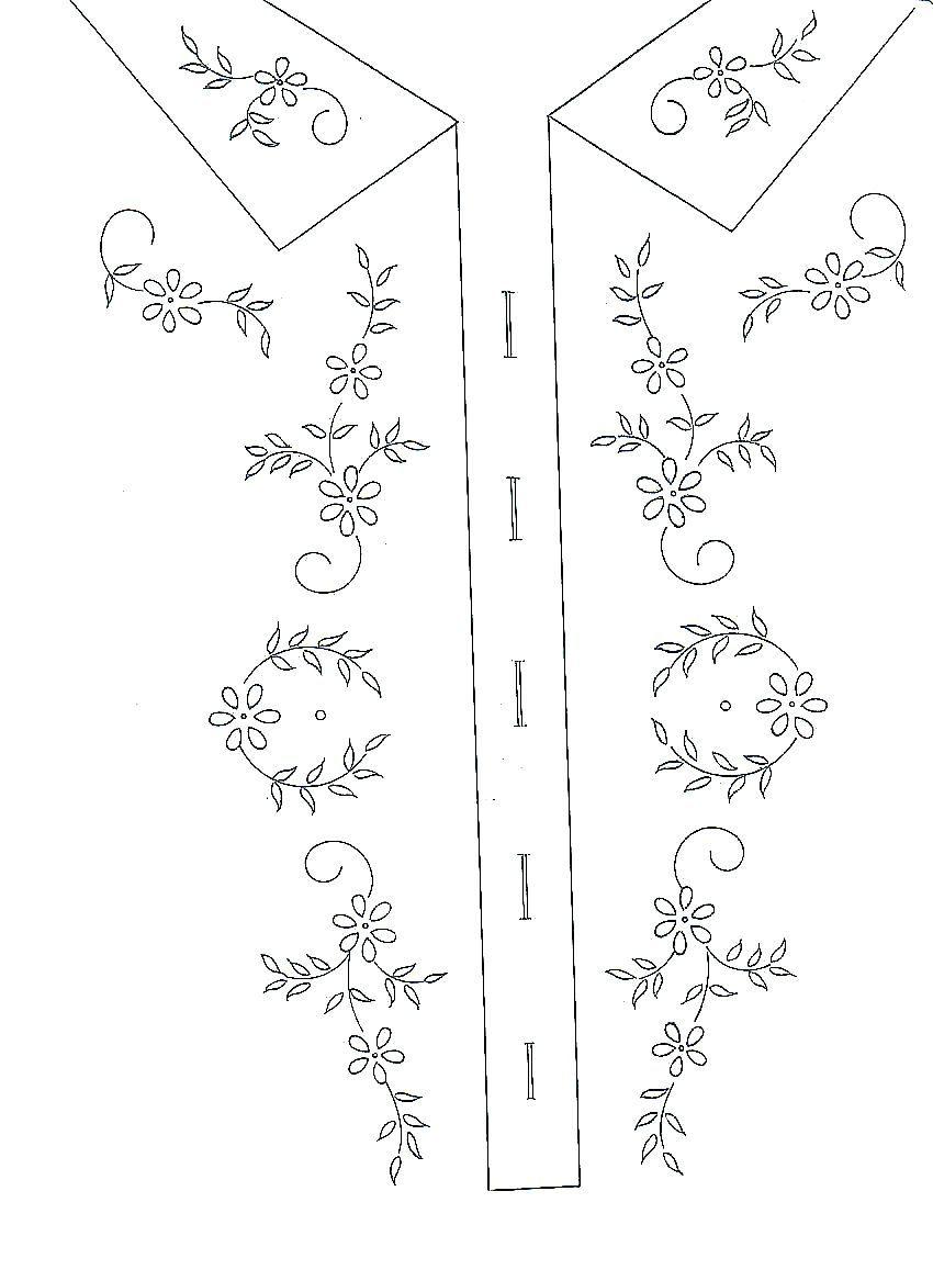 camisa bordada | Bordado | Pinterest | Stickvorlagen und Stickmuster