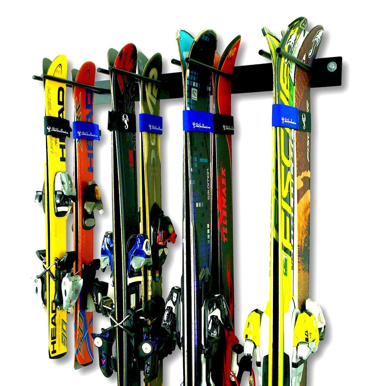 Blat Ski Storage Rack Wall Mount Holds Up To 8 Pairs Of Skis Ski Rack Storage Rack Wall Storage