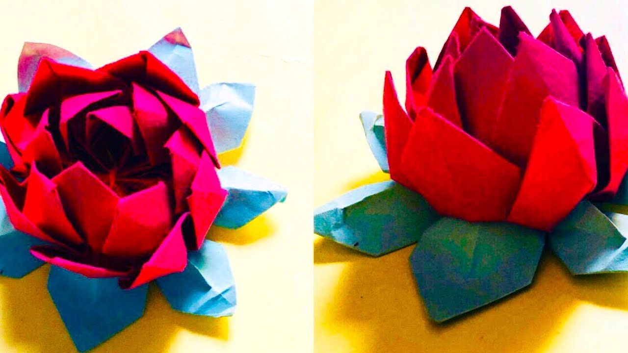 Easy Paper Craft How To Make Beautiful Lotus Flower From Paper