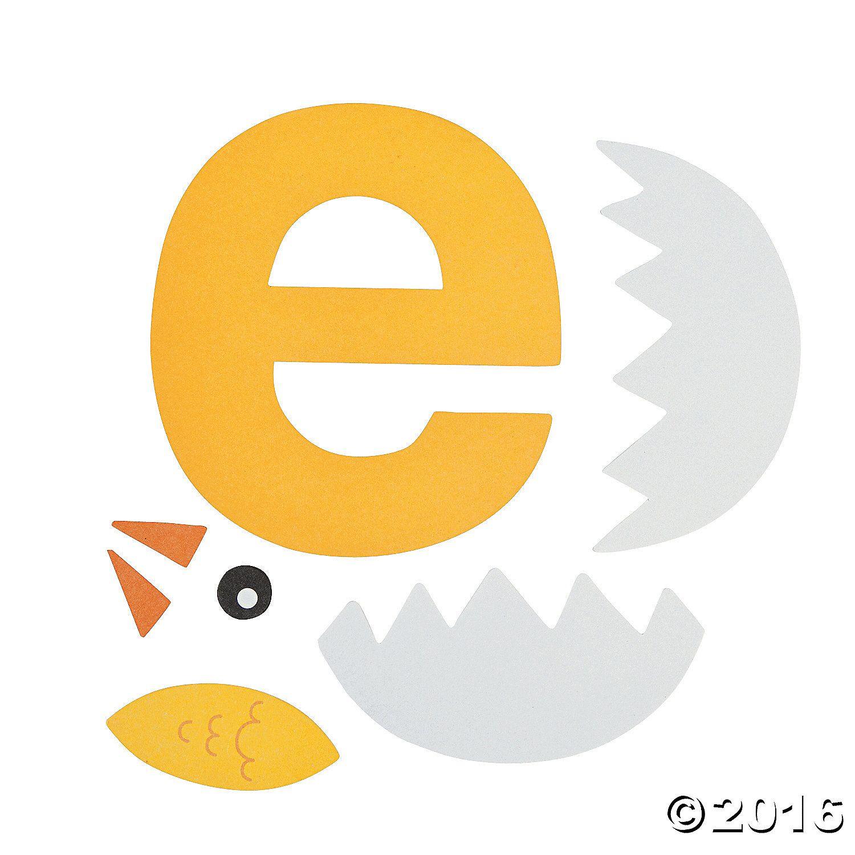E Is For Egg Letter E Craft Kit Makes 12 4 1 4 X 4 1 2 Otc