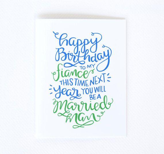 Fiance Birthday Card - Little Print Design …